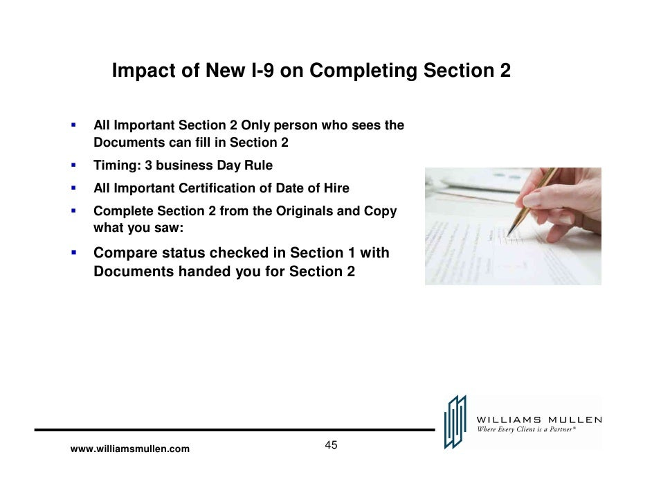 form i-9 3 day rule  Nuts and Bolts: Filling in the New I-6 Form