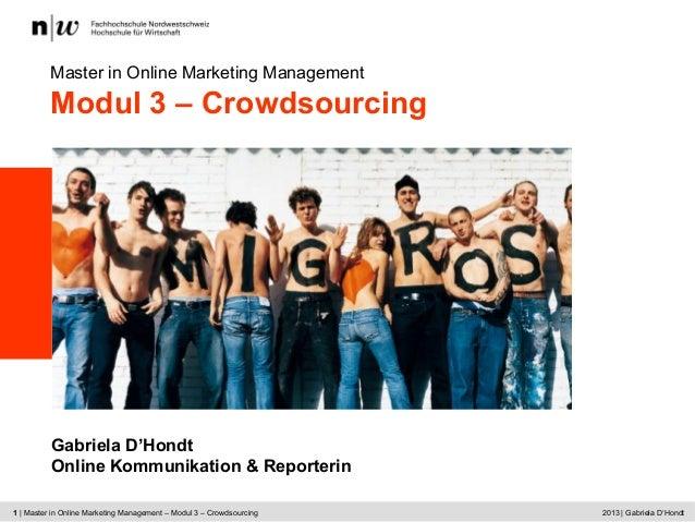 CAS ECOM | Kick Off | Martina Dalla Vecchia © 2009 Hochschule für Wirtschaft | 11 | Master in Online Marketing Management ...