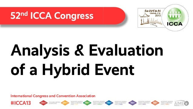 52nd ICCA Congress  Analysis & Evaluation of a Hybrid Event International Congress and Convention Association .  #ICCA13