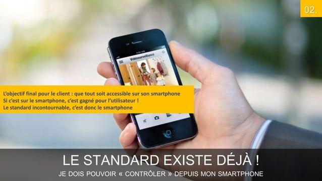 02.  L'objectif final pour le client : que tout soit accessible sur son smartphone Si c'est sur le smartphone, c'est gagné...