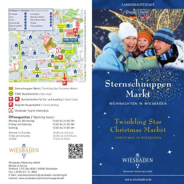 Parkhäuser in Wiesbaden / Multi-storey car parks Am Markt City I  1 2  Luisenplatz Mauritius-Galerie  City II  3  Rhein-Ma...