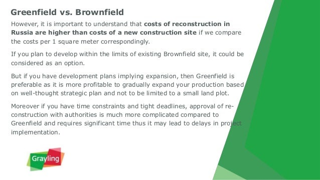 Greenfield investment vs brownfield investment wikipedia rotkohlsaft als indikator forex