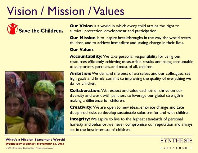 What's a Mission Statement Worth?