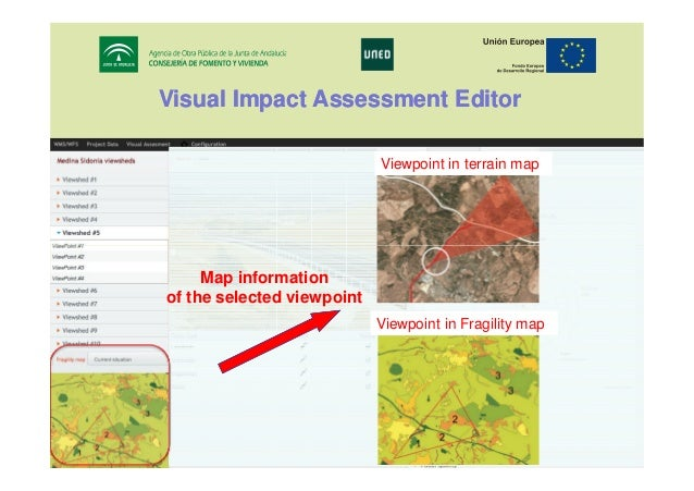Visual Impact Assessment Editor Viewpoint in terrain map  Map information of the selected viewpoint Viewpoint in Fragility...