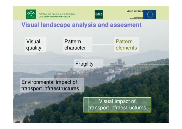 Visual landscape analysis and assesment Visual quality  Pattern character  Pattern elements  Fragility Environmental impac...