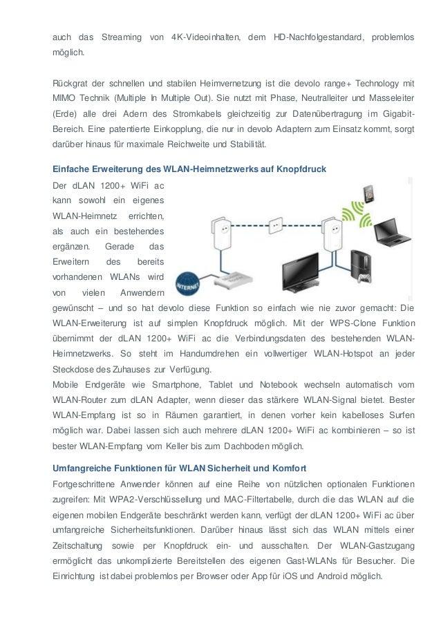 131114 devolo d_lan1200pluswifiacdevolo präsentiert neues Powerline-WLAN-Flaggschiff: dLAN® 1200+ WiFi ac  bringt das schnellste WLAN in jedes Zimmer Slide 2