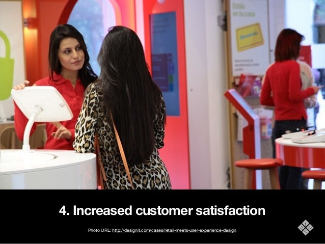 4. Increased customer satisfaction Photo URL: http://designit.com/cases/retail-meets-user-experience-design