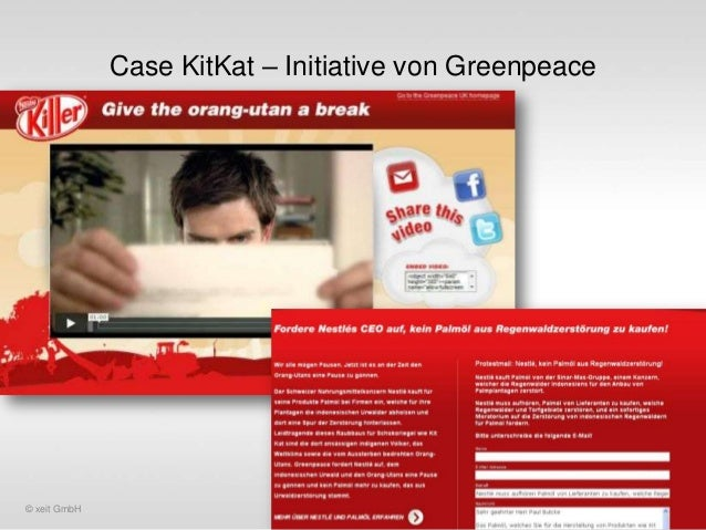 Case KitKat – Initiative von Greenpeace  © xeit GmbH