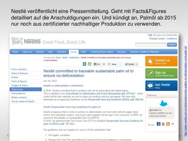 © xeit GmbH  http://www.nestle.com/media/statements/update-on-deforestation-and-palm-oil  Nestlé veröffentlicht eine Press...