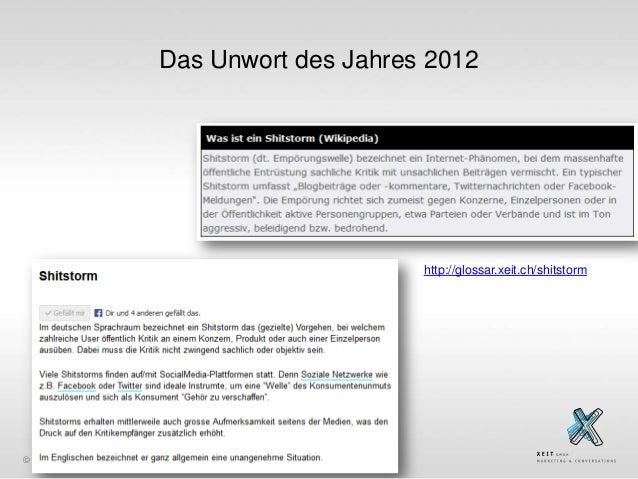 Das Unwort des Jahres 2012  http://glossar.xeit.ch/shitstorm  © xeit GmbH