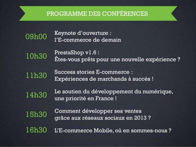 Barcamp PrestaShop 2013 Keynote d'ouverture