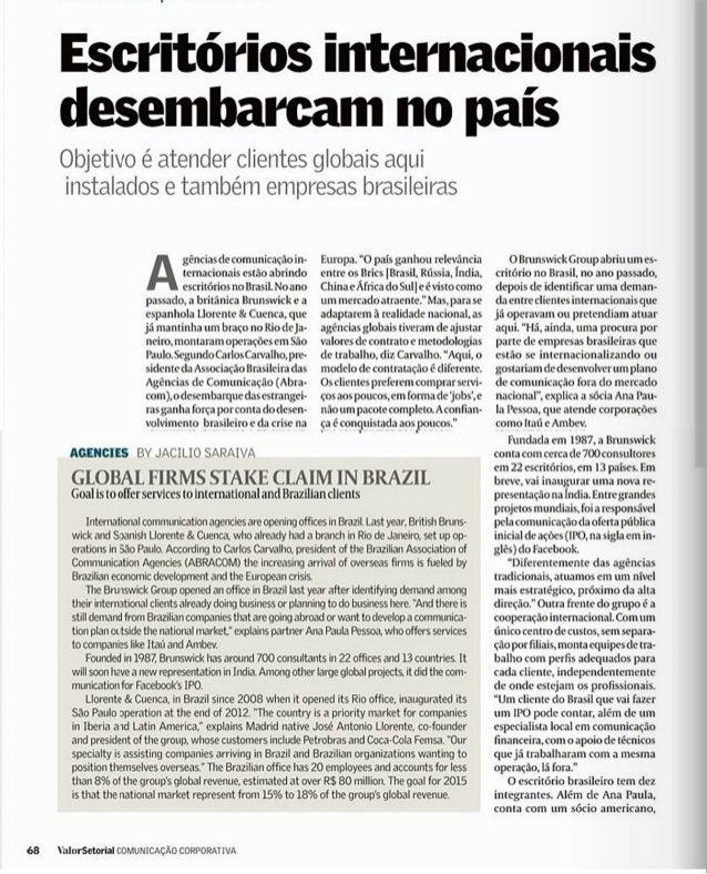 Brasil: Escritórios internacionais desembarcam no país