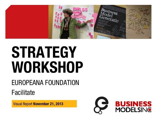 STRATEGY WORKSHOP EUROPEANA FOUNDATION Facilitate Visual Report November 21, 2013