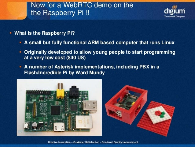 Asterisk and WebRTC - Digium 'Demo & Eggs' Presentation Slides