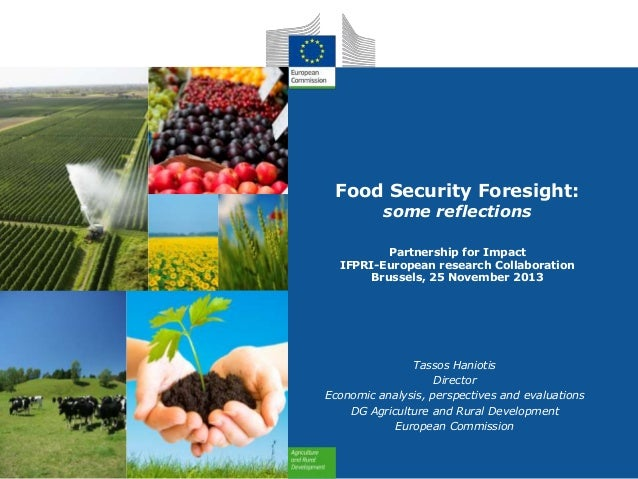 Food Security Foresight: some reflections  Partnership for Impact IFPRI-European research Collaboration Brussels, 25 Novem...