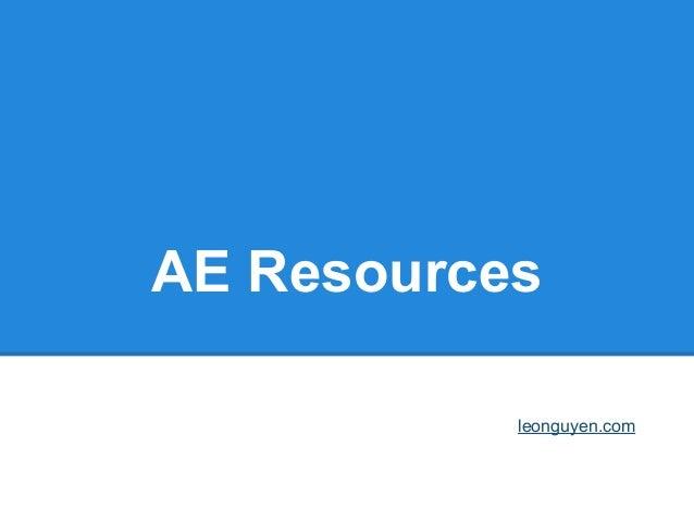 AE Resourcesleonguyen.com