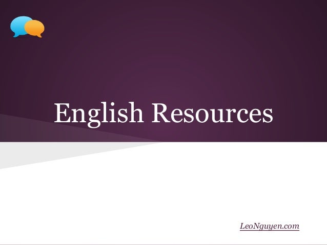 English Resources LeoNguyen.com