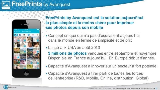 FreePrints by Avanquest FreePrints by Avanquest est la solution aujourd'hui la plus simple et la moins chère pour imprimer...