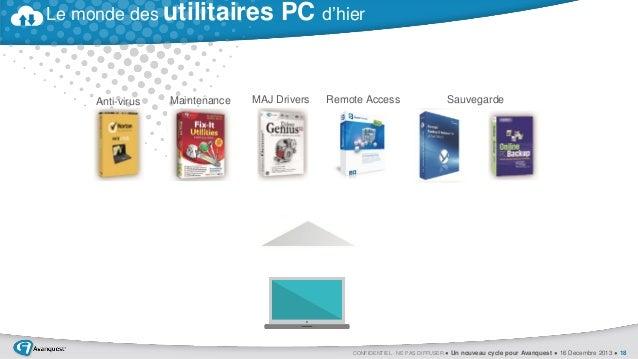 Le monde des utilitaires  Anti-virus  Maintenance  PC d'hier  MAJ Drivers  Remote Access  Sauvegarde  CONFIDENTIEL - NE PA...