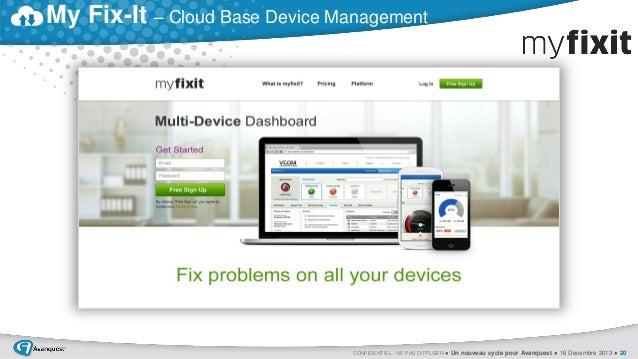 My Fix-It – Cloud Base Device Management  CONFIDENTIEL - NE PAS DIFFUSER ● Un nouveau cycle pour Avanquest ● 16 Decembre 2...
