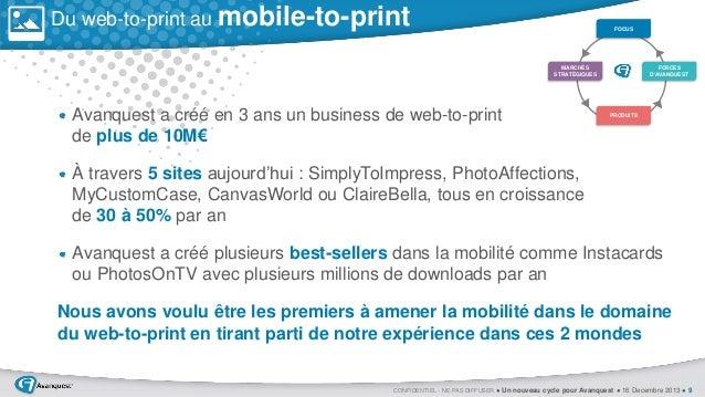 Du web-to-print au mobile-to-print  FOCUS  MARCHÉS STRATÉGIQUES  Avanquest a créé en 3 ans un business de web-to-print de ...