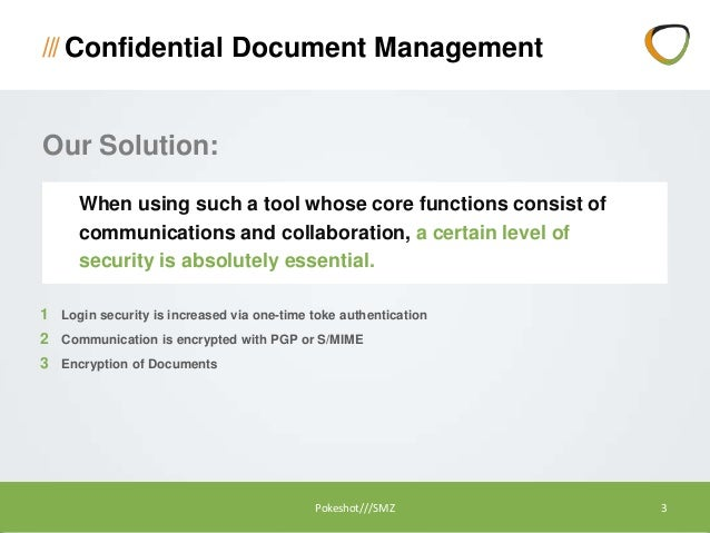 encrypted document management