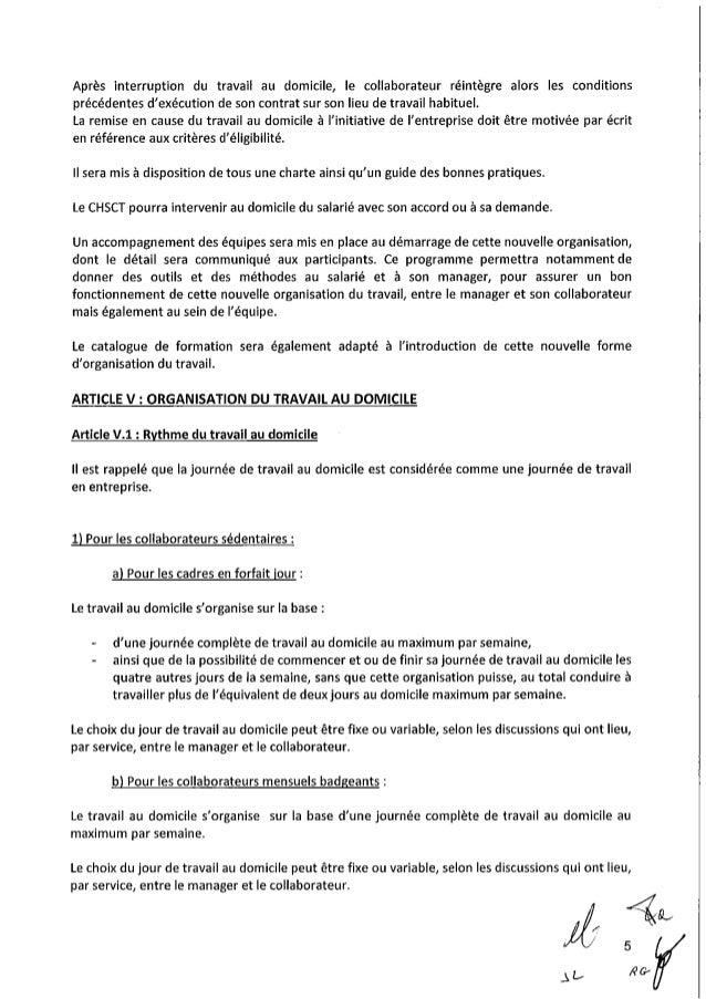 Accord de télétravail chez Siemens France