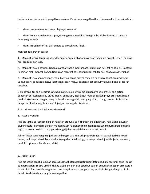 Contoh Laporan Studi Kelayakan Proyek Contoh Raffa