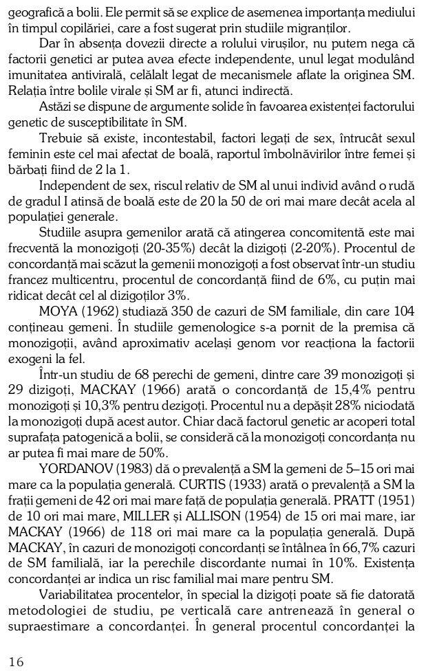 monozigoþi nu este prea ridicat ºi ipoteza unei transmiteri genetice autosomal dominante a SM nu are prea mulþi susþinãtor...