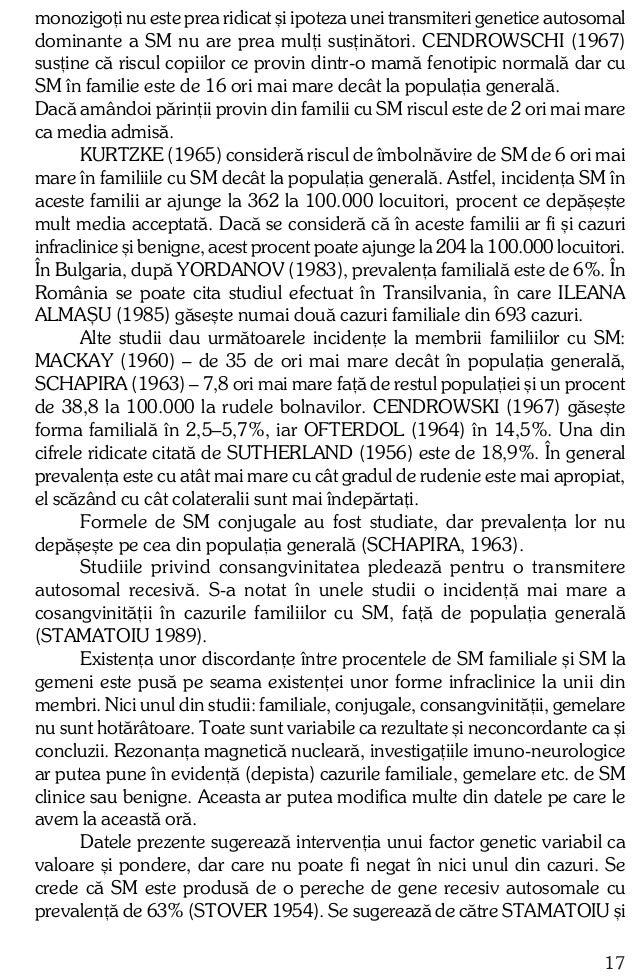 colaboratorii în 1989 existenþa unei relaþii între prevalenþa genei ºi distribuirea geograficã a SM. Intrevenþia factorulu...