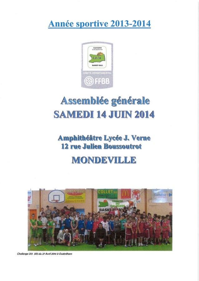Rapport d'activité - 2013-2014