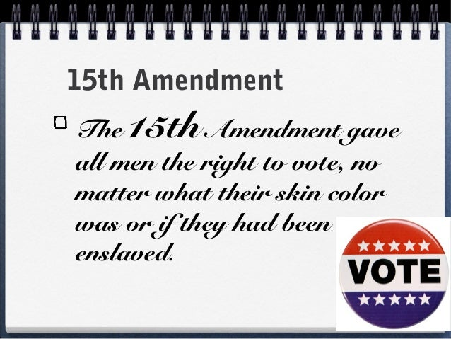 13 14 15 amendments