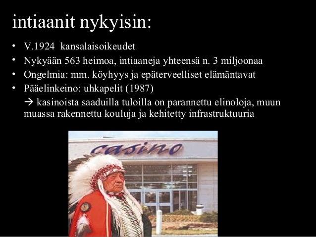 intiaanit nykyisin:4NYKYÄÄN • V.1924 kansalaisoikeudet • Nykyään 563 heimoa, intiaaneja yhteensä n. 3 miljoonaa • Ongelmia...