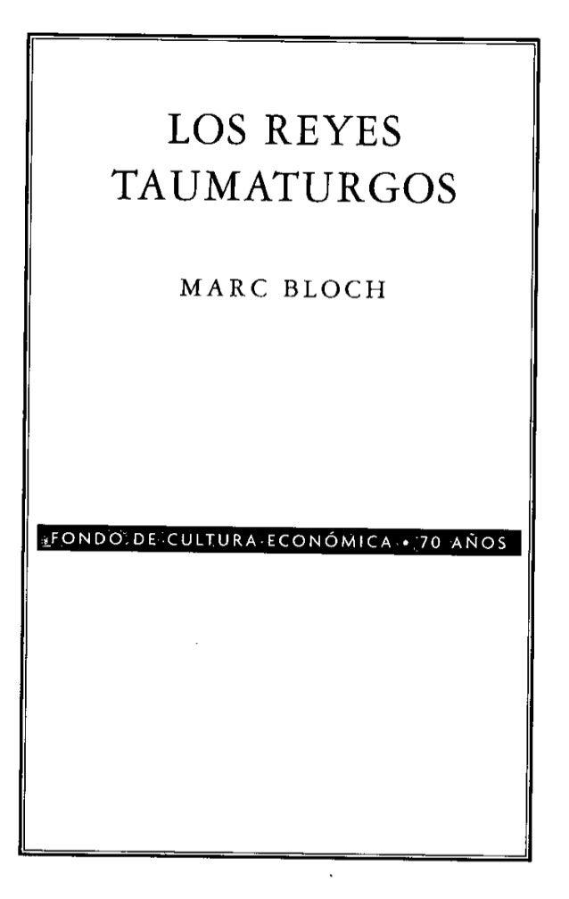 Los reyes taumaturgos de Marc Bloch