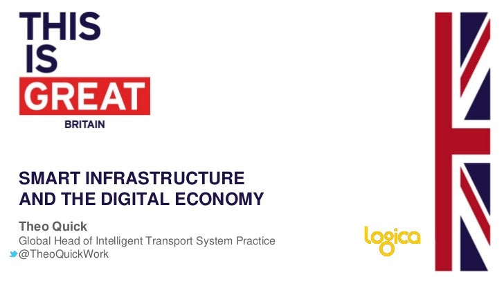 SMART INFRASTRUCTUREAND THE DIGITAL ECONOMYTheo QuickGlobal Head of Intelligent Transport System Practice@TheoQuickWork
