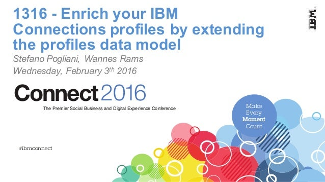 Make Every Moment Count 2016ConnectThe Premier Social Business and Digital Experience Conference #ibmconnect 1316 - Enrich...