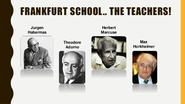 "new essays on the frankfurt school of critical theory What came to be informally known as ""the frankfurt school"" of critical social theory was originally established in germany in 1923 as the frankfurt institute for."