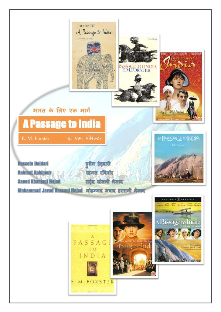A Passage to India                                   E. M. Forster       भारत क लिए एक मागग             े  A Passage to In...