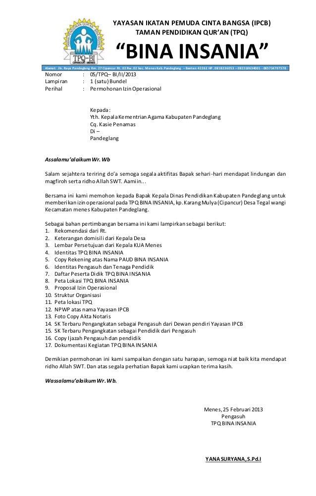 131833771 Proposal Izin Operasonal Tpq Docx