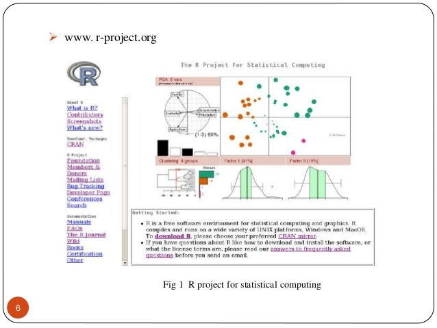 R project for statistical computing