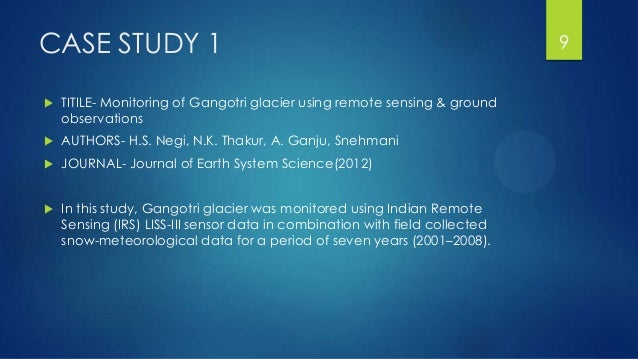 Climate Change Impact Assessment On Melting Glaciers Using
