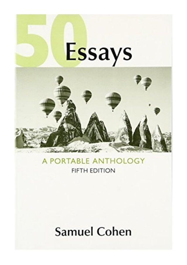 Samuel cohen 50 essays a portable anthology second edition cover letter receptionist job uk