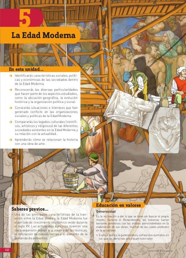 5 PROYECTO SÉ © EDICIONES SM132 Saberes previos… - Una de las principales características de la tran- sición entre la Edad...