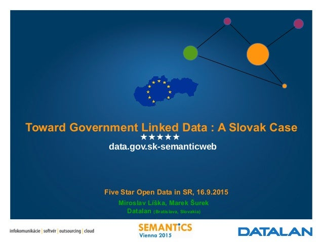 ★★★★★ Miroslav Líška, Marek Šurek Datalan (Bratislava, Slovakia) l Five Star Open Data in SR, 16.9.2015 Toward Government ...