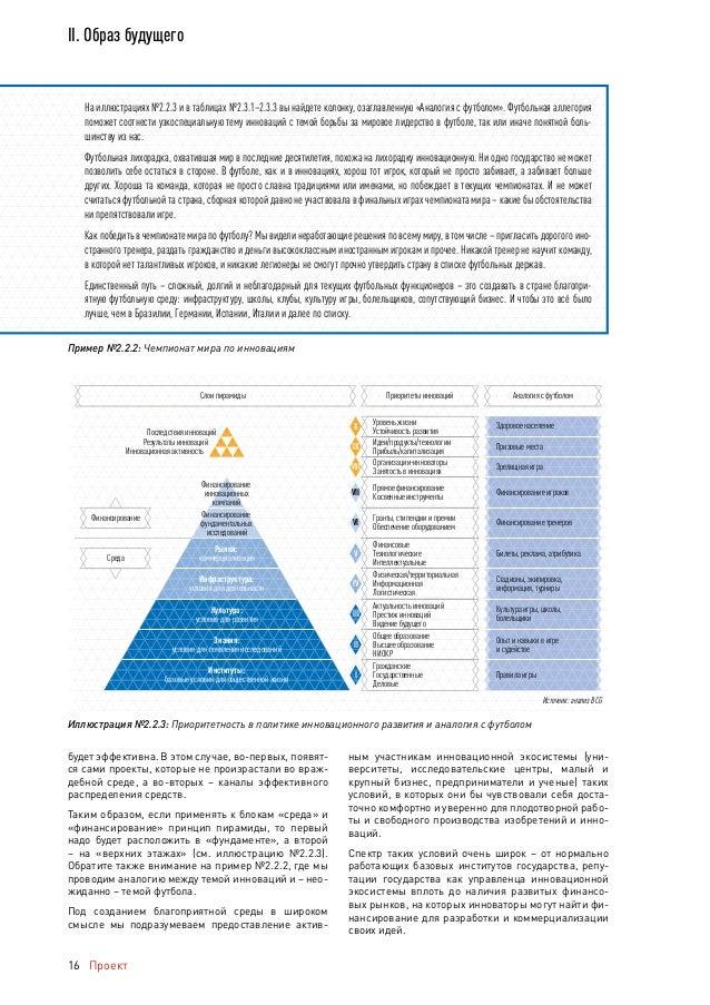 Проект Национальный доклад об инновациях в России 17 II. Образ будущего Масштабность понятия среды отражает тот факт, что ...