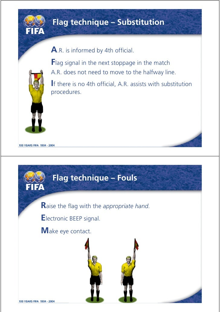 fifa guidelines for referees two fouls committed