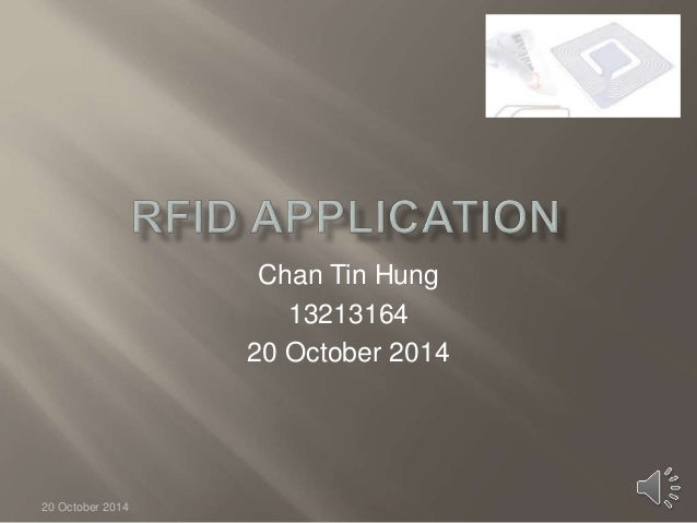 Chan Tin Hung  13213164  20 October 2014  20 October 2014