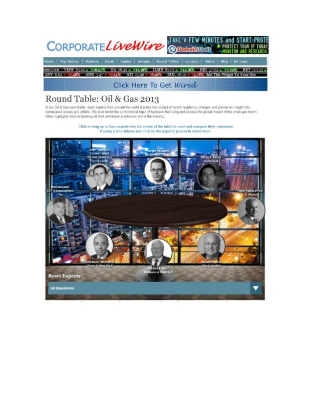 Round Table: Oil & Gas 2013