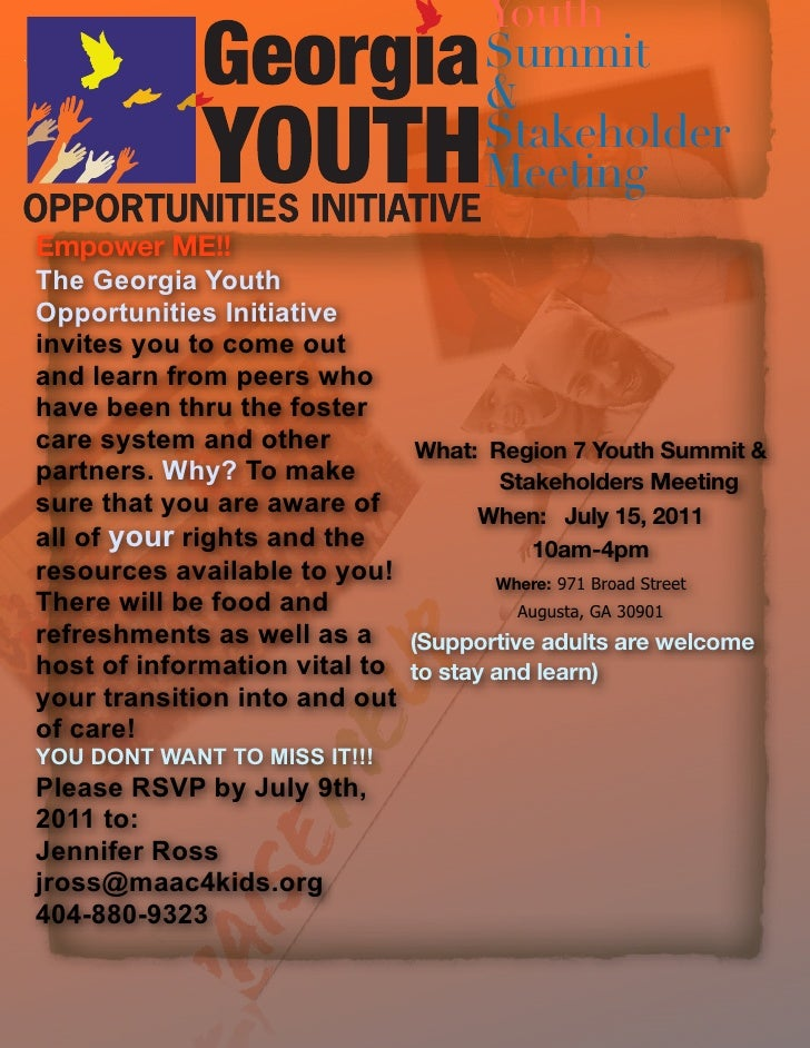 Youth                                    Summit                                    &                                    St...