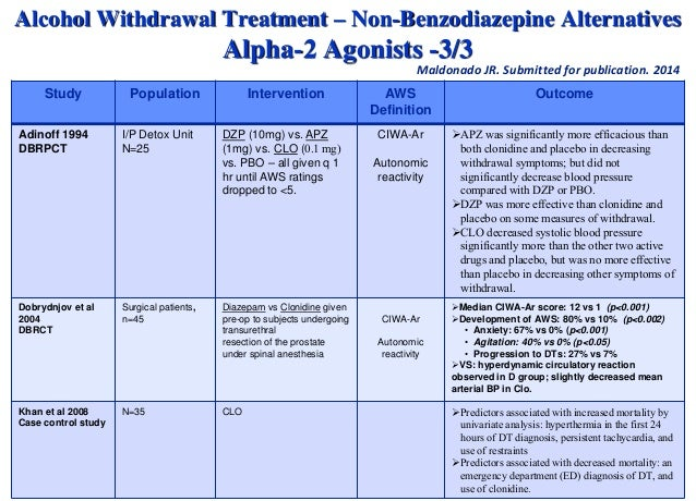 Neurobiology and Treatment of Alcohol Withdrawal